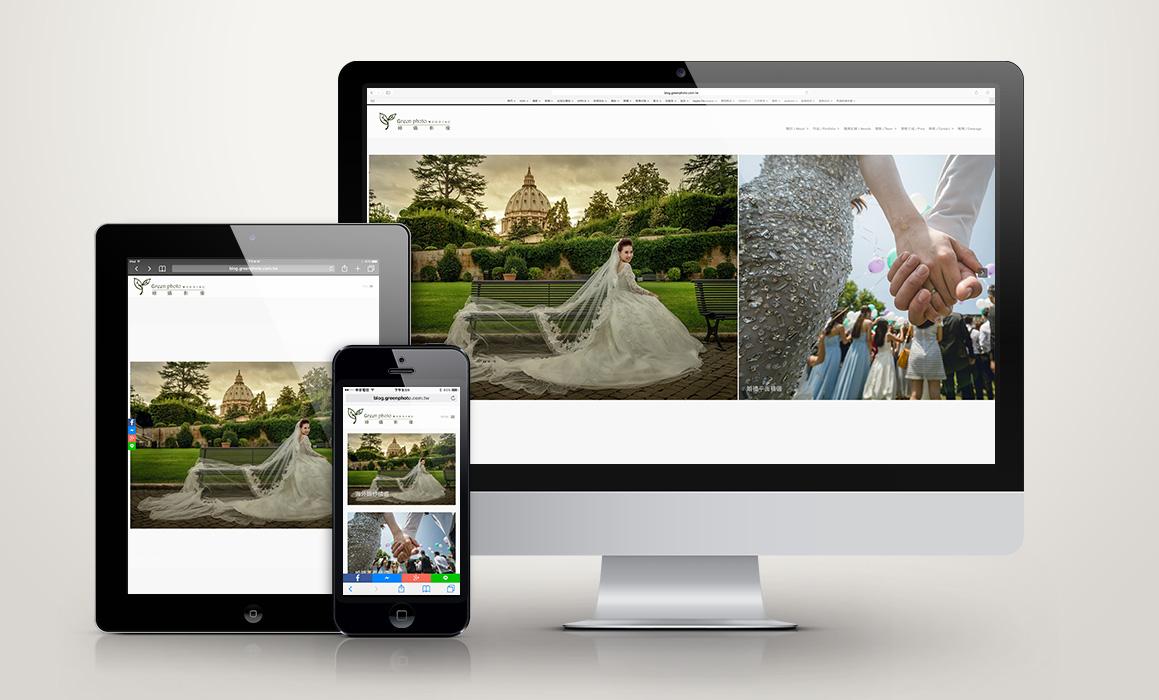 網頁設計,綠攝影像,推薦專案